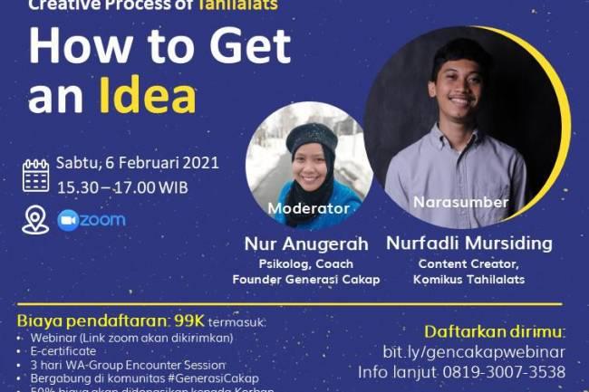 """Sukses dengan Tahilalats, Begini Cerita Nurfadli Mursiding dalam Webinar """"Creative Process of Tahilalats:How to Get an Idea"""""""