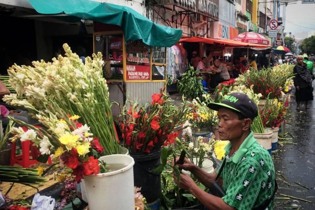 Imlek Saat Pandemi, Penjual Bunga Sepi Pembeli